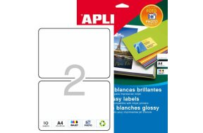 APLI LABELS N.02925 PHOTO GLOSSY INKJET 178x127mm